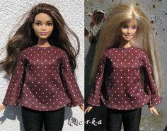 Halenka+pro+paneku+Barbie+i+baculku+Halenka+z+úpletovélátky+se+zvonovými+rukávy+na+Barbie.+Jevhodná+jak+na+běžnou+Barbie,+taki+baculku+(Curvy+Barbie).+(panenka+se+neprodává+je+pouze+modelka)+3+