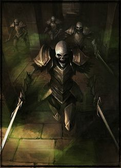 Skeleton Warriors dungeon temple ruin lich guards Dragons, Orcs, And Geeks