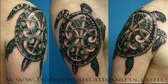 Sea turtle tattoo, woah