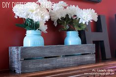 DIY Distressed Crate - use my old cd crate!?!