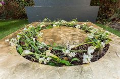 Funeral wreath ~ made by H.Denker and uploaded by Florales Design Hedja Eichinger