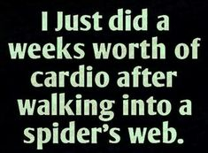 Hate spiders.