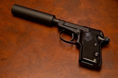Beretta 21A with silencer