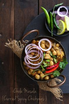 Choley Masala / Curried Spicy Chickpeas - Powered by @ultimaterecipe