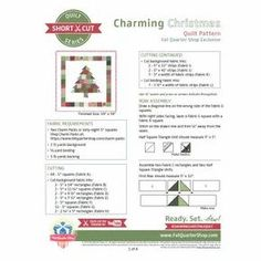 Charming Christmas Short Cut Quilt Pattern | Free PDF Fat Quarter Shop Exclusive Christmas Quilting Projects, Christmas Tree Quilt, Christmas Quilt Patterns, Christmas Sewing, Christmas Ideas, Christmas Stuff, Christmas Patchwork, Christmas Gifts, Holiday Crafts