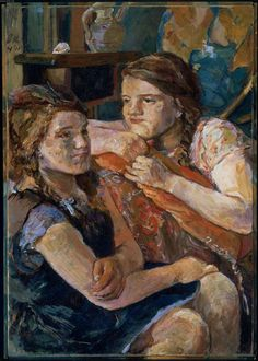 "Oskar Kokoschka. ""Double Portrait of Trudi"" — Fotopedia"