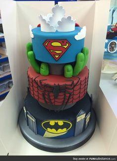 Superhero cake amazing