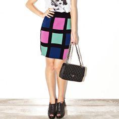 CiCi Shop - Contrast Color Plaid Skirt $89.00 http://www.shop.secretenvy.com/CiCi-Shop-Contrast-Color-Plaid-Skirt-20152163.htm