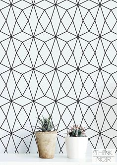 20 % OFF Geometric Pattern Self Adhesive Wallpaper / by ThinkNoir