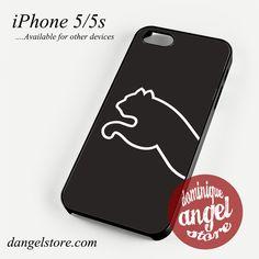 black puma half logo Phone case for iPhone 4/4s/5/5c/5s/6/6 plus