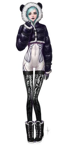 Cyberpunk Panda by AdrianDadich on deviantART Character Concept, Character Art, Concept Art, Character Ideas, Gangsters, Style Feminin, Art Manga, Anime Art, Psy Art