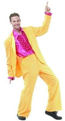 Mens 80s Disco Costume Baggy Trousers+T-Shirt Love 80s Wham Hip-Hop Fancy Dress
