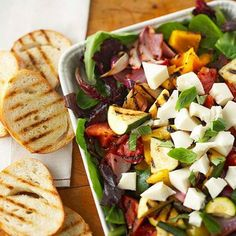 You'll love this Grilled Vegetable and Mozzarella Ensalada at http://tastyshare.com/index.php/posts/162216-Youll-love-this-Grilled-Vegetable-and-Mozzarella-Ensalada