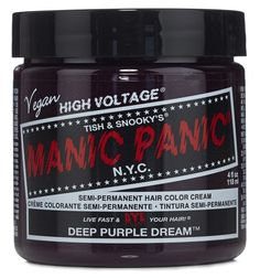 Manic Panic Semi-Permament Haircolor Deep Purple 4oz Jar * Want to know more, click on the image.