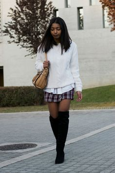 How to wear plaid skirts in winter- holiday outfit inspiration  Plaid has been one of my most favorite patterns to work with over the years. Many prints and designs come and from my wardrobe every  month but plaid seems like it is here to stay.