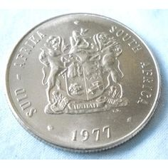 1977-SOUTH AFRICA-1 RAND COIN-EXCELLENT CONDITION for R5.00 Old Coins, Rare Coins, 1 Rand, My Family History, My Roots, African Animals, African History, Silver Coins, South Africa