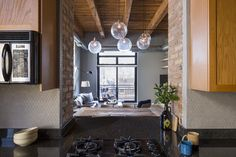 nice mixture of materials as you transition from one space to the next Haven Design Studio