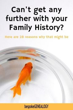 Can't get any further with your family history? Here are 28 reasons why you may be stuck with your genealogy research. #genealogy #familyhistory #ancestors #genealogyresearch #genealogyskills #heritage #familytree #bespokegenealogy