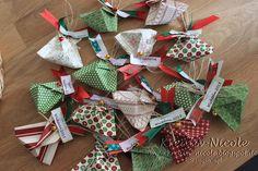 #Wichtel-#Namen-#Pakete für die #Weihnachtsfeier im #Geschäft. Die #Verpackung ist eine #Origamifaltung. Alle #Produkte sind von #Stampin' Up!