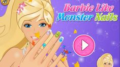 Barbie Like Monsters Nails- Barbie Princess Game- HD Movie Game
