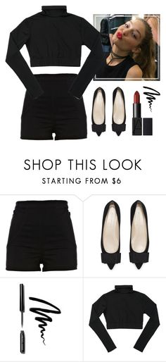 """""""Total black & red lipstick"""" by neneumi ❤ liked on Polyvore featuring River Island and Bobbi Brown Cosmetics"""