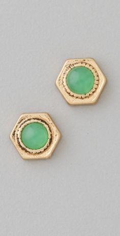 Love these jade and gold earrings!
