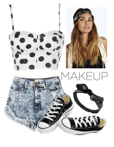 """Carnival Outwear"" by haileymadisonnn ❤ liked on Polyvore featuring Converse, Wet Seal and Boohoo"