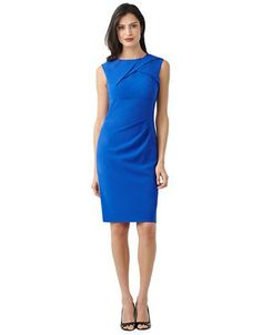 Women's Clothing | Party/Cocktail | Pleated Front Sheath Dress | Lord and Taylor