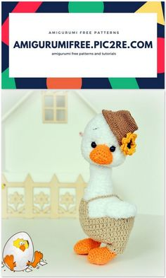 Amigurumi Goose Crochet Pattern Free & Paid - Page 2 of 31 - Free Crochet Patterns Crochet Animal Patterns, Crochet Patterns Amigurumi, Stuffed Animal Patterns, Crochet Toys, Amigurumi Toys, Easter Crochet, Crochet Bunny, Free Crochet, Cute Desk Accessories