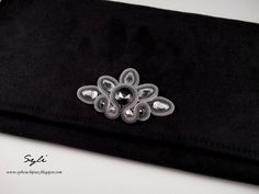 "Kopertówka sutasz/ Soutache clutch bag ""Calarel"""