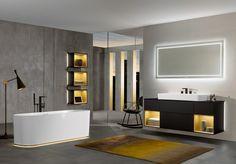 The ultimate Design Plataform for Luxury bathroom solutions Bathroom Trends, Diy Bathroom Decor, Bathroom Furniture, Bathroom Interior, Modern Bathroom, Bathroom Lighting, Bathroom Black, Bathroom Taps, Bad Inspiration