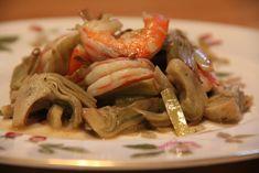 Ricette di cucina - Le ricette di Verzamonamour.com: Spadellata di carciofi e gamberi