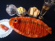 Cocinando con Lola García: Salmón marinado. Canapes, Sin Gluten, Grill Pan, Salmon, Grilling, Tasty, Fish, Cooking, Ethnic Recipes