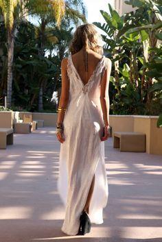 white dress + back tattoo