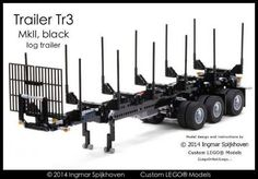 LEGO Set MOC-2028 - Trailer Tr3 MkII Black with instructions
