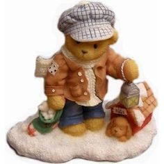 Cherished Teddies Bear Rich - Always Paws for Holiday Treats - 352721 Enesco * Instant discounts available  : Collectible Figurines for Christmas