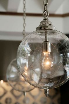 Jute Interior Designs Design Ideas, Pictures, Remodel, and Decor: Gorgeous Lights! Interior Lighting, Home Lighting, Lighting Design, Pendant Lighting, Wire Pendant, Globe Pendant, Light Fittings, Light Fixtures, Lamp Light