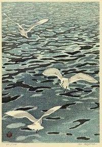 Gulls by Aoyama Masaharu (1893-1969)