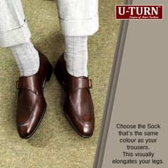 #Fashion Tip | Wear the same colour #Sock that of your Trousers.  U TURN | www.uturnapparel.in