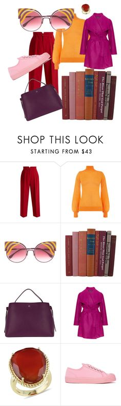 Look #4 by anuta-degtyareva on Polyvore featuring Warehouse, Manon Baptiste, RED Valentino, Novesta, Etienne Aigner, Ice, Fendi, Pink, purple and red