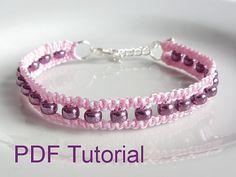Tutoriel PDF noeud carré Macrame Bracelet par purplewyvernjewels                                                                                                                                                                                 Plus