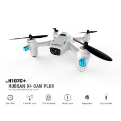 Hubsan X4 Camera Plus H107C+ 2.4GHz 720P RC Quadcopter Mode Switch RTF - mode 2 From 89,95 for Euro 54,20