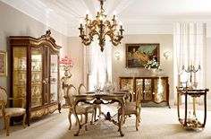 Classic Dining Room,Handmade italian dining room tables, luxury living room furniture, classic chairs and armchairs. Classic Dining Room, Luxury Dining Room, Dining Room Design, Dinning Set, Dining Room Console, Dining Room Furniture, Wood Furniture, Dining Rooms, Luxury Homes Interior