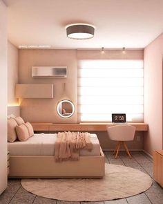 Small Room Design Bedroom, Home Room Design, Home Decor Bedroom, Master Bedroom, Tiny Girls Bedroom, Bedroom Designs For Girls, Bedroom Ideas For Small Rooms, Small Room Interior, Cool Room Designs