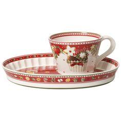Winter Bakery Delight Cupcake-Tasse mit Untertasse 2tlg. 21x15,5x8cm