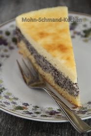 ZuckerkuchenEule: Mohn-Schmand-Kuchen -  Für den Teig: 150g Mehl 75g Margarine 80g Zucker 1 Ei 2TL Backpulver  Für die Mohnmasse: 1/2 l Milch 1 Pck. Puddingpulver (Vanille) 2 Pck. Mohn-Fix 1 Becher Schmand  Für den Schmandbelag: 3 Eier 80g Puderzucker 1 Becher Schmand