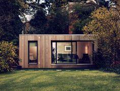 future backyard studio/storage area/spare bedroom/shed Backyard Office, Backyard Studio, Garden Office, Tiny House, Contemporary Garden Rooms, Garden Pods, Garden Cabins, Studio Shed, Garden Buildings