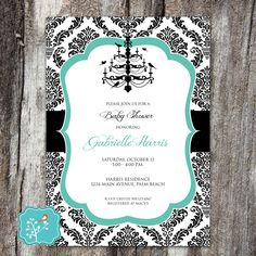 Breakfast at Tiffany's Invitation, Tiffany Invitation, Birthday, Bridal Shower, Baby Shower, Graduation, Quinceañera, Sweet 16, DIGITAL FILE by AFlairForPaper on Etsy