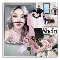 """""""Shein-White Contrast"""" by shinee-pearly ❤ liked on Polyvore featuring Marissa Webb, WithChic and Gucci"""