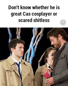 """God I love how Misha just leans in real close and he's like """"don't freak out, don't freak out"""""""